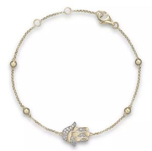 Bloomingdales Diamond Hamsa Bracelet 14k gold